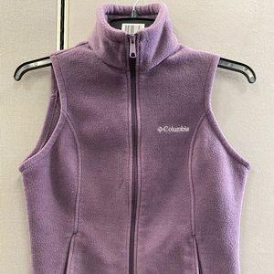 Columbia Womens Vest Full Zip Fleece Purple Size S